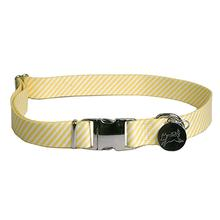 Southern Dawg Seersucker Dog Collar by Yellow Dog - Yellow