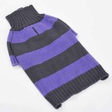 Sporty Stripe Dog Sweater by Dogo - Purple