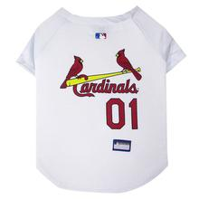 St. Louis Cardinals Officially Licensed Dog Jersey - White