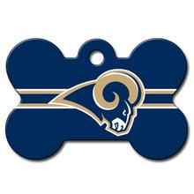 St. Louis Rams Engravable Pet I.D. Tag - Bone