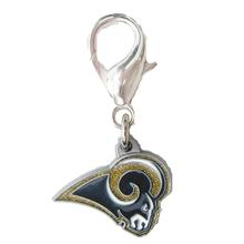 St. Louis Rams Logo Dog Collar Charm