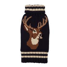 Stag Dog Sweater from Fab Dog - Brown
