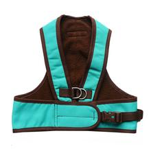 Step Easy Adjustable Dog Harness - Turquoise and Chocolate