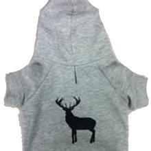 Tailgate Deer Dog Hoodie - Gray