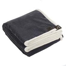 Tall Tails Corded Fleece Dog Blanket - Charcoal and Cream