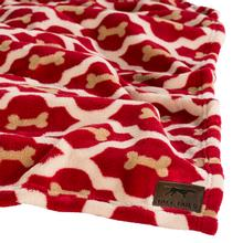 Tall Tails Red Bone Fleece Dog Blanket