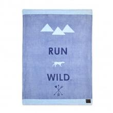 Tall Tails Run Wild Fleece Dog Blanket - Blue