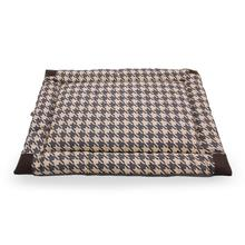 Tall Tails Velboa Dog Bed - Houndstooth