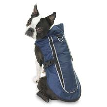 Taos Two-Tone Dog Coat - Navy