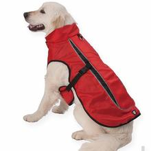 Taos Two-Tone Dog Coat - Red