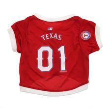 Texas Rangers Baseball Dog Jersey