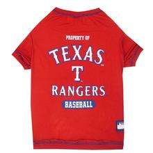 Texas Rangers Dog T-Shirt - Red