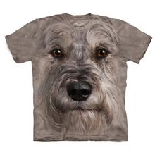 The Mountain Human T-Shirt - Miniature Schnauzer Face