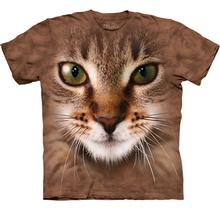The Mountain Human T-Shirt - Striped Cat Face