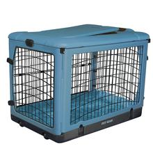 The Other Door Steel Dog Crate Plus - Ocean Blue