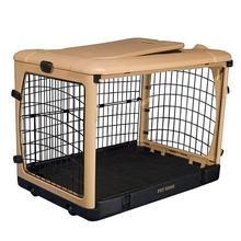 The Other Door Steel Dog Crate - Tan