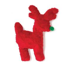 Tiny Tuff Reindeer Dog Toy by West Paw - Red