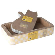 Tom and Jerry Cat Scratcher - Blue Chevron or Yellow Dots
