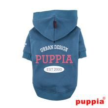 U-Pup Hooded Dog Shirt by Puppia - Dark Blue