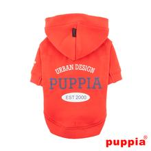 U-Pup Hooded Dog Shirt by Puppia - Orange Red