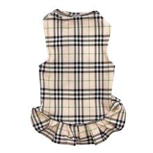 Under-Wrapper Plaid Dog Dress by Daisy and Lucy
