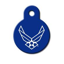 U.S. Air Force Engraveable Pet I.D. Tag - Small Circle
