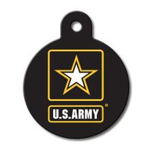 U.S. Army Engravable Pet I.D. Tag - Large Circle