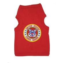 U.S. Coast Guard Crest Dog Tank Top - Red