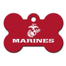 U.S. Marines Engravable Pet I.D. Tag - Large Bone