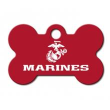 U.S. Marines Engravable Pet I.D. Tag - Small Bone