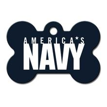 U.S. Navy Engraveable Pet I.D. Tag - Large Bone