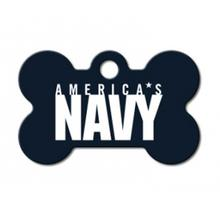 U.S. Navy Engraveable Pet I.D. Tag - Small Bone