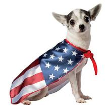 USA Flag Cape Dog Costume by Rasta Imposta