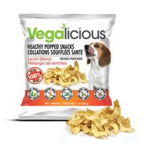 Vegalicious Popped Snack Dog Treat - Lentil Blend