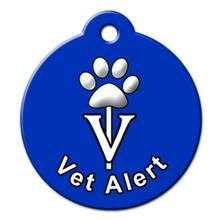 Vet Alert QR Code Pet ID Tag by BarkCode - Blue