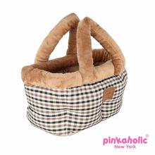 Victorian Bed Dog Car Seat by Pinkaholic - Beige