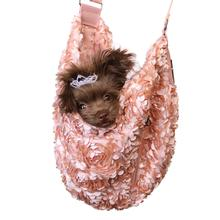 Victorian Luxury Sling Pet Carrier by Hello Doggie - Peach