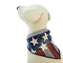 Vintage Stars and Stripes Dog Scarf - Gray
