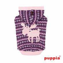 Vixen Hooded Dog Sweater by Puppia - Purple