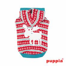Vixen Hooded Dog Sweater by Puppia - Red