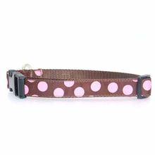 WaLk-e-Woo Pink Dot on Brown Dog Collars