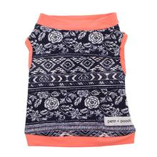 Wanderlust and Coral Buzz Drew Dog Tank by Penn + Pooch