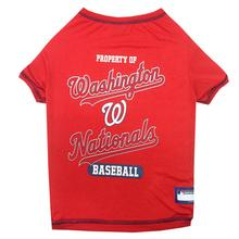 Washington Nationals Dog T-Shirt - Red