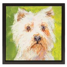 Westie Oil Painting