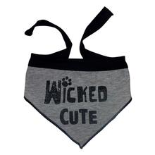 Wicked Cute Dog Bandana Scarf - Gray