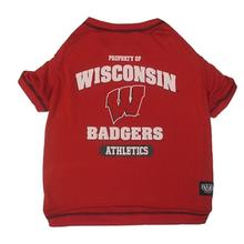 Wisconsin Badgers Dog T-Shirt