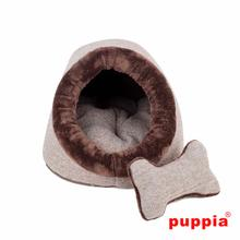 Witta Cave Dog Bed by Puppia - Brown