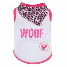 Woof Dog Tank by Dogs of Glamour - Pink