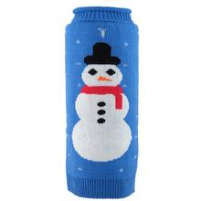 Worthy Dog Frosty Roll Neck Dog Sweater - Blue