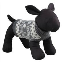 Worthy Dog Holiday Ski Dog Sweater - Alpine Gray